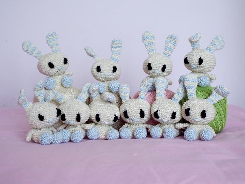 FREE amigurumi pattern! Cory the Giant Bunny - Airali | 638x850