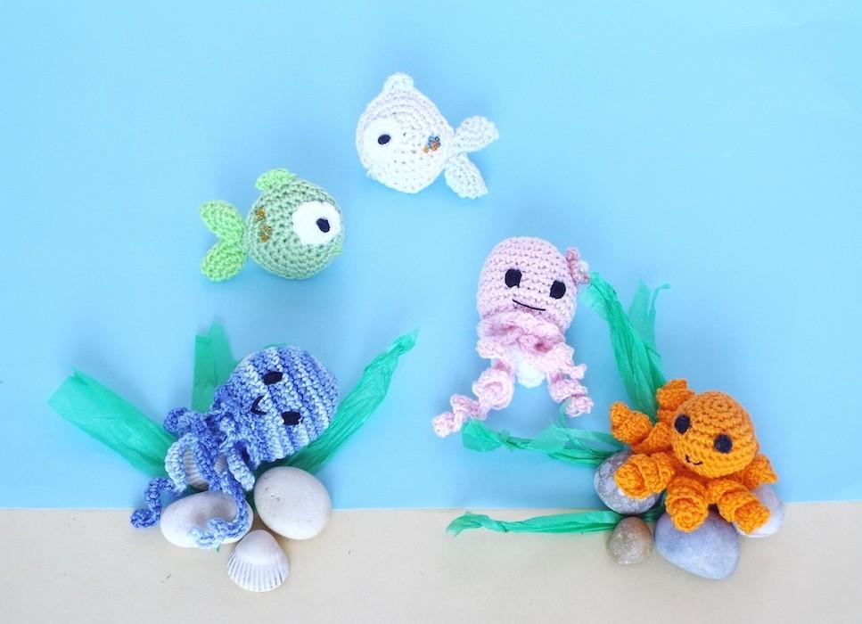Uncinetto giocattolo di polpo | 700x967