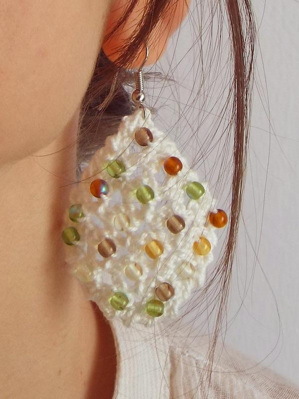 Orecchini Con Perline Di Vetro Alluncinettoit